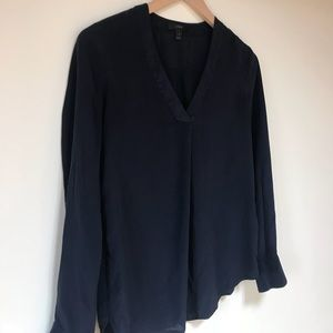Jcrew silk blouse navy